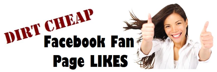 Dirt Cheap Facebok Fan Page Likes